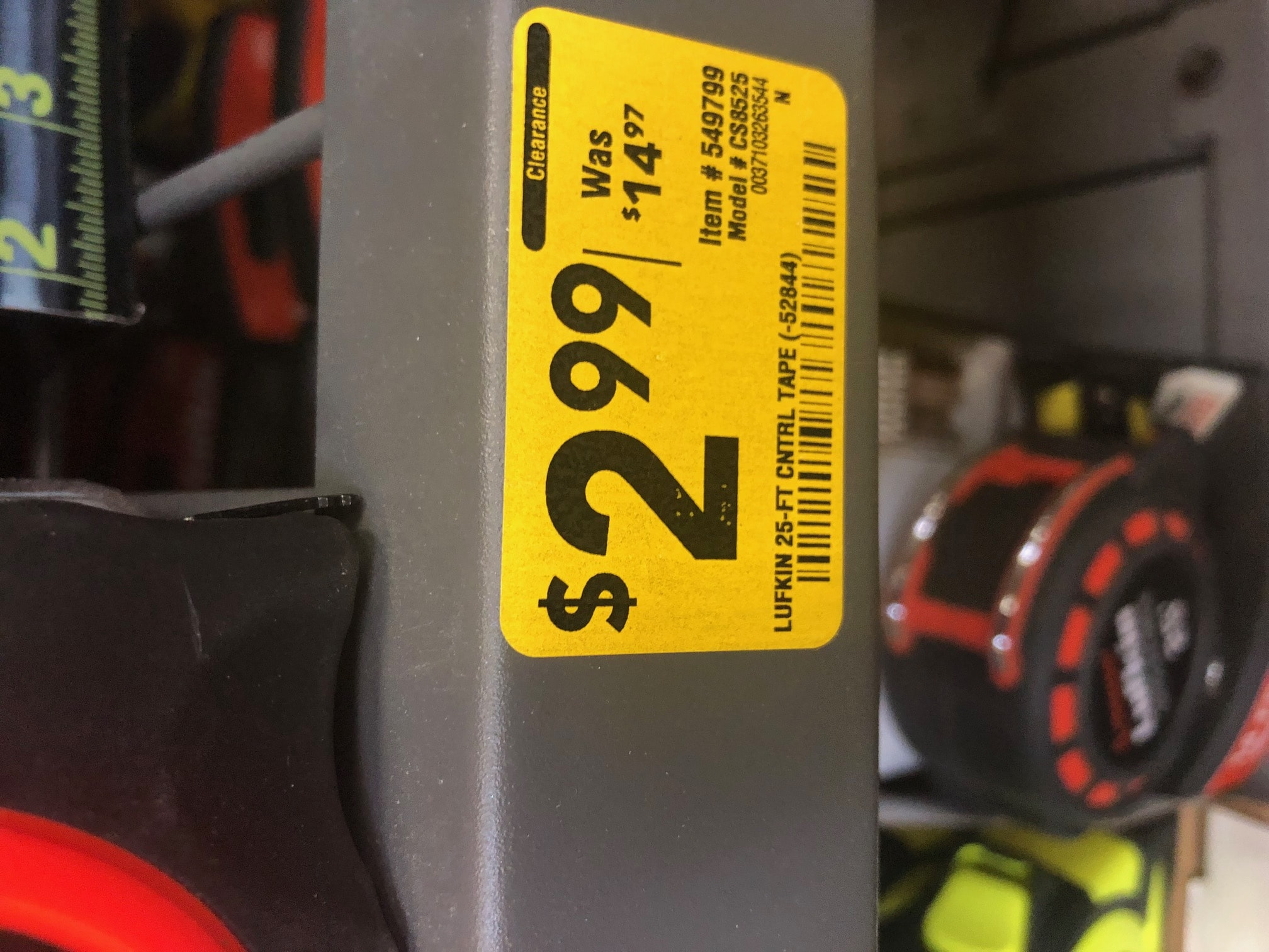 Lowes - Lufkin Tape Measure clearance - $2.99 / was $14.97 YMMV