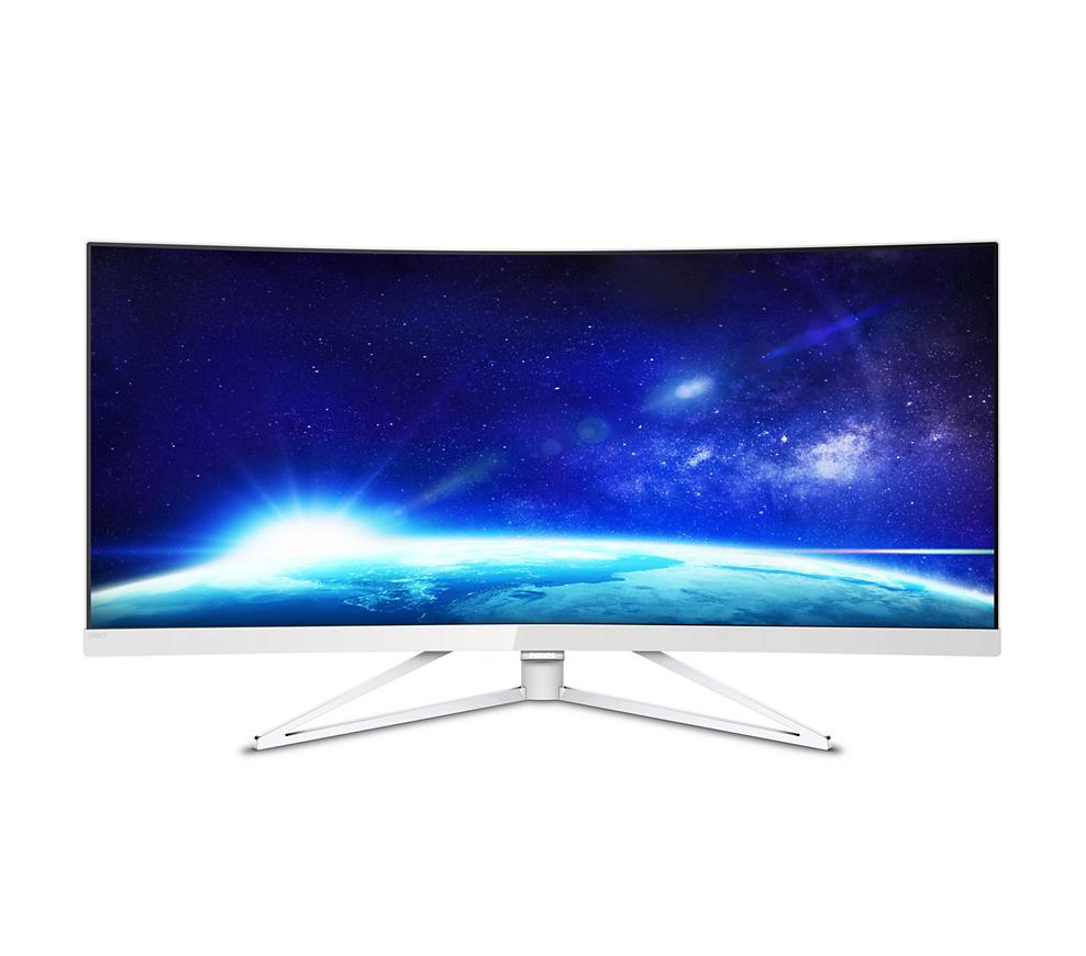 "Philips - Brilliance X-line 349X7FJEW 34"" LED UltraWide HD FreeSync Monitor $600"