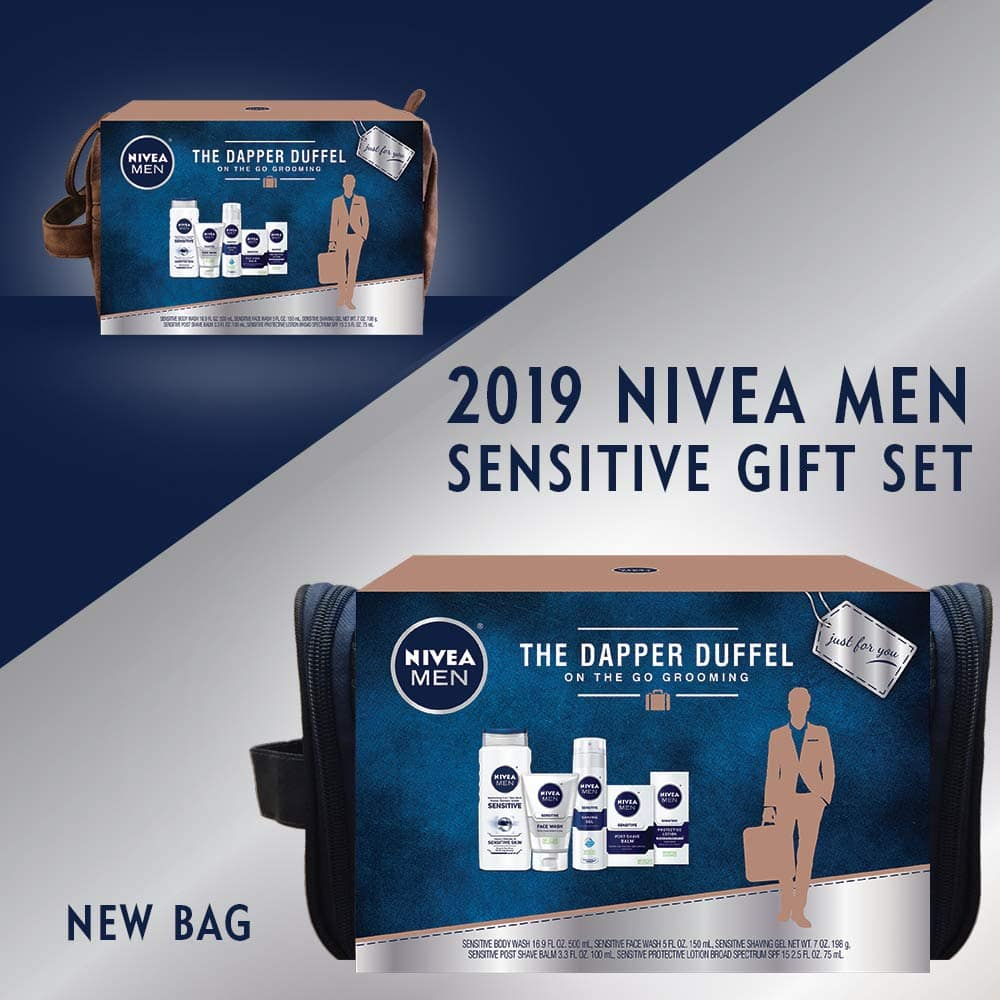 NIVEA Men Dapper Duffel Gift 5 piece set @Amazon 40%off $14.18