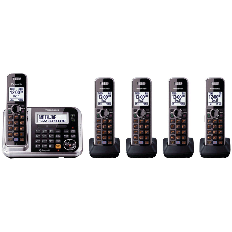 Panasonic KX-TG7875S DECT 6.0 Bluetooth Cordless Landline Telephone - 5 Handsets