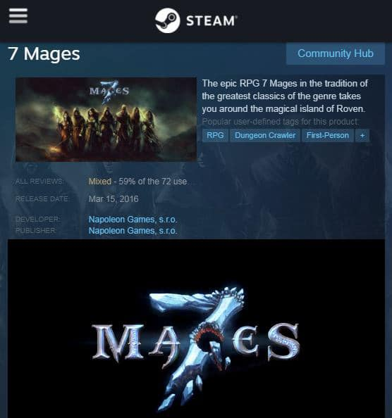 $1.39 -7 Mages - STEAM - WEEK LONG DEAL! Offer ends April 23