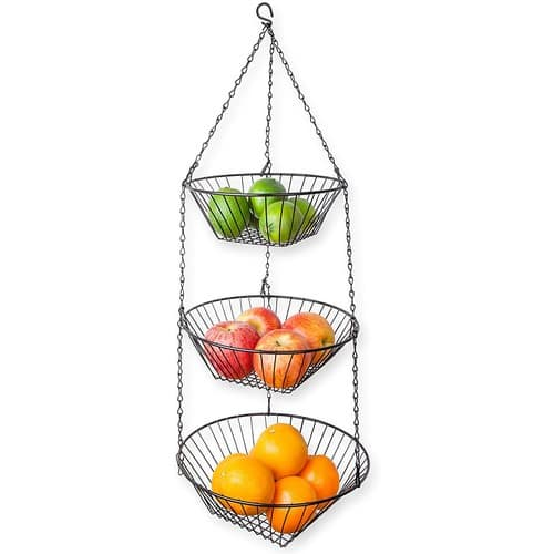 Home Basics 3-Tier Wire Hanging Basket $5.98