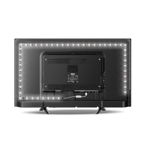 JACKYLED LED Light Strip lights Purewhite USB 6.6ft Bias Lighting 6000K w/ button control Waterproof Backlight Kit for Monitor Cabinet Sideboard Wardrobe $5.80 + FS w/ Prime