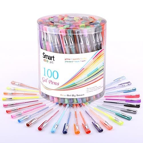 Smart Color Art 100 Colors Gel Pens Set for Adult Coloring Books Drawing Painting Writing $12.97 + FS w/ Prime