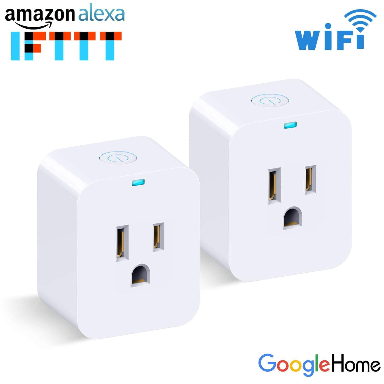 2 Pack Mini Smart Plug works with Alexa and Google $12.9 FS w/Prime