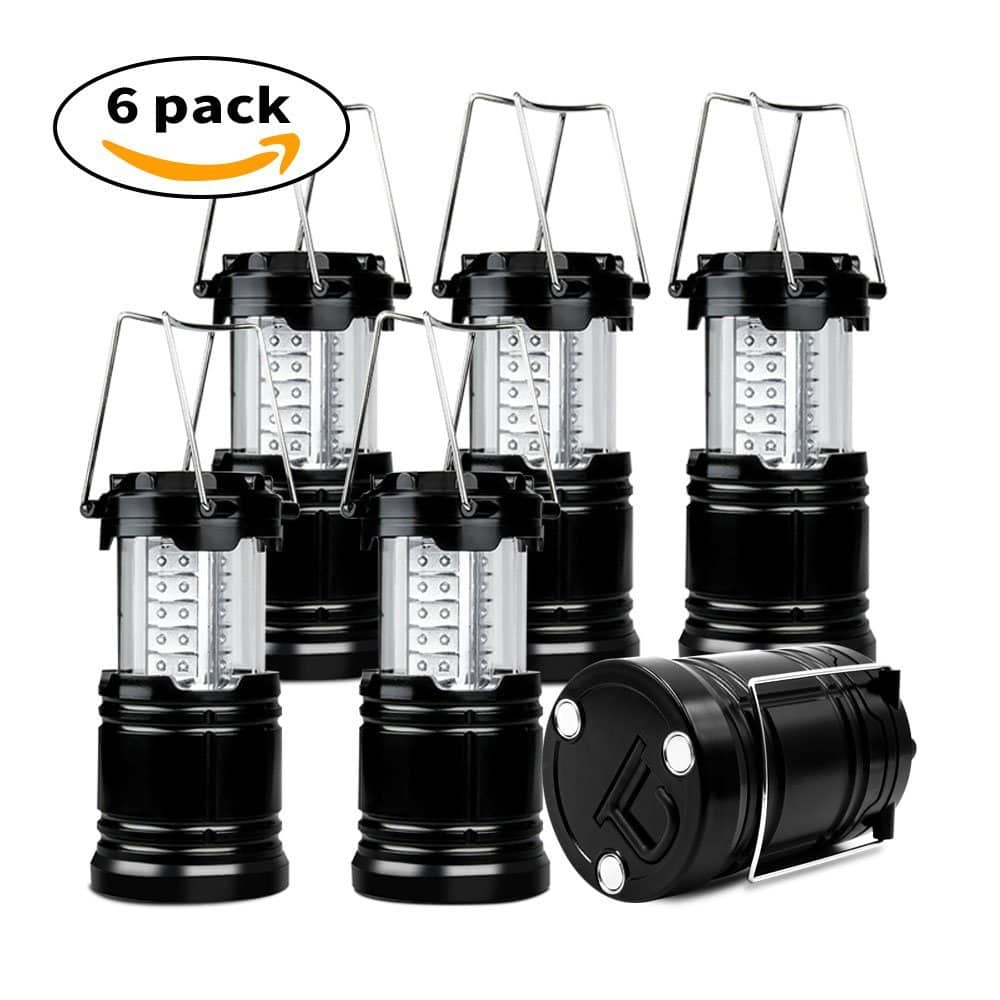 6-Pack Collapsible 30 LED Camping Lanterns $23.51 + FS