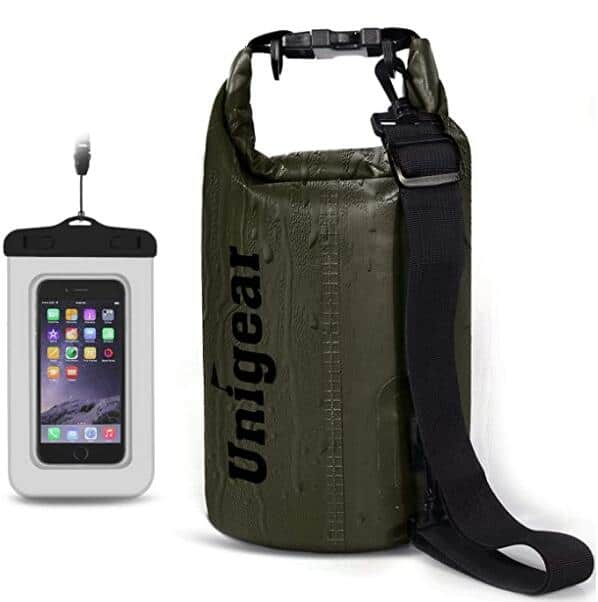Unigear Waterproof Dry Bag 2L/5L/10L/20L/30L/40L with Waterproof Phone Case Various Colors from $5.43 Amazon Prime Only