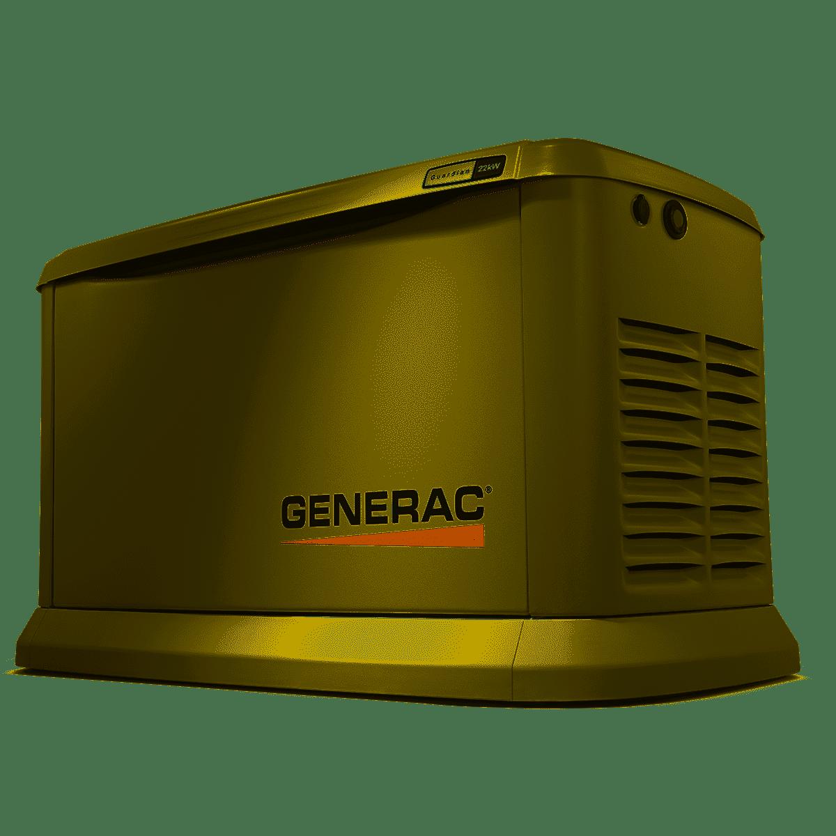 Generac 70422 22/19.5,000-watt aluminum wi-fi air-cooled standby generator  $3517