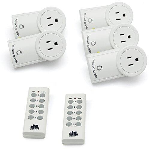 5-Pack Etekcity Wireless Outlet Light Switch w/ 2 Remotes $21.48 AC at Amazon