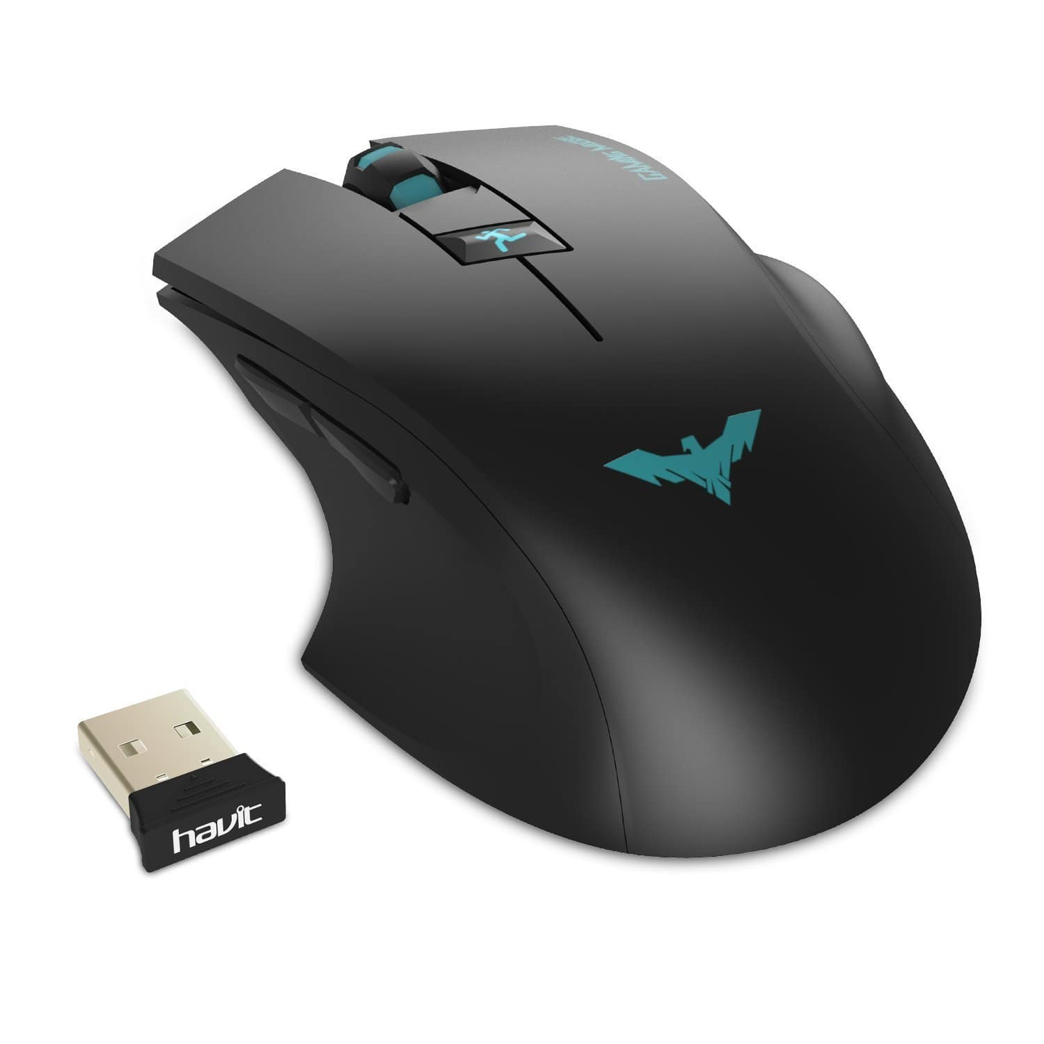 HAVIT 2.4GHz Adjustable 2000 DPI Wireless Gaming Mouse $7.99AC at Amazon