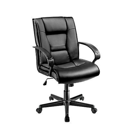 brenton studio ruzzi mid-back vinyl chair - slickdeals