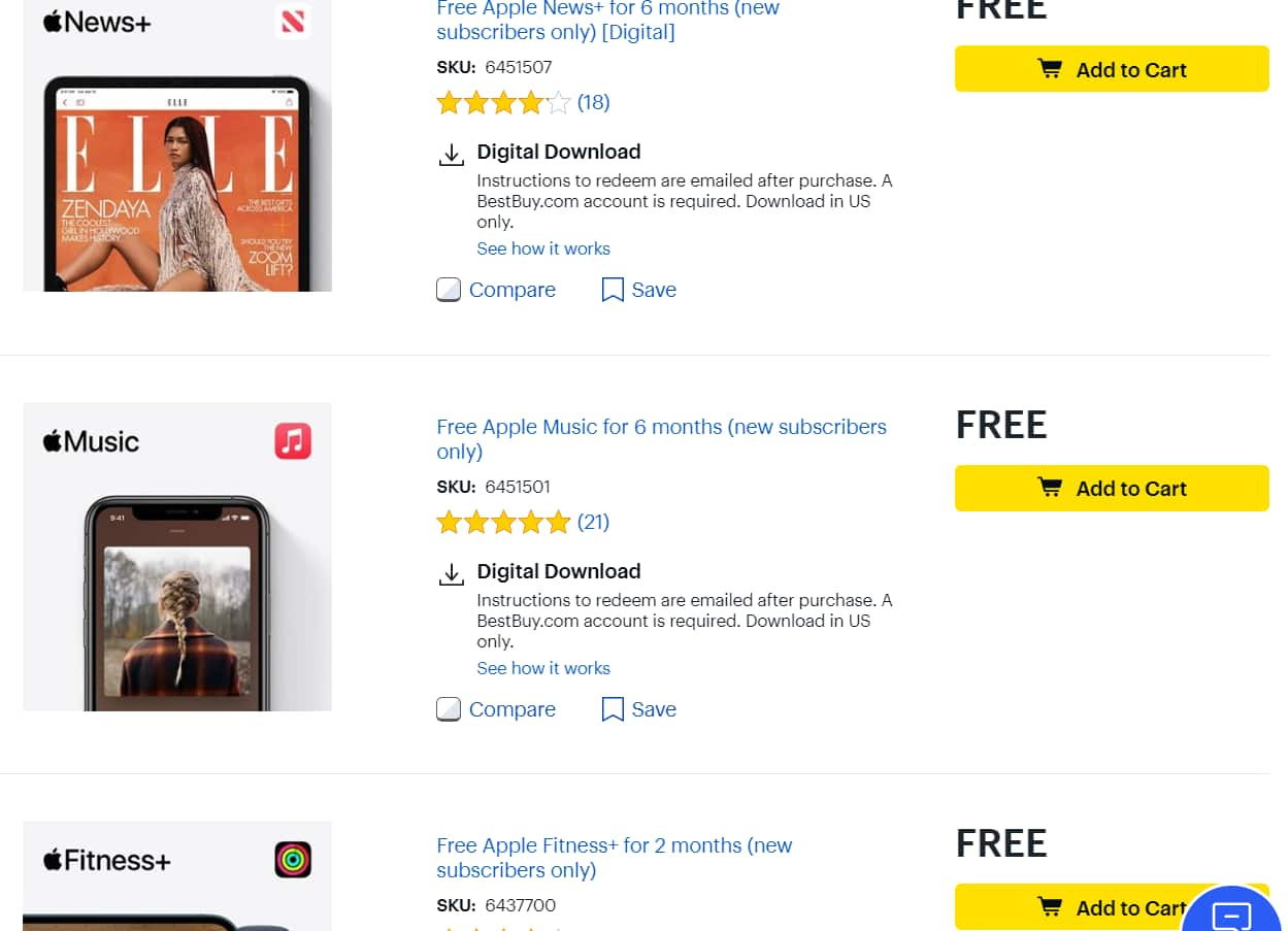 Free Apple Subscription Services