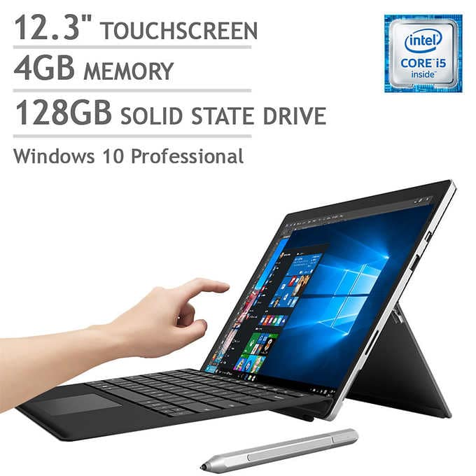 """$799.99   Microsoft Surface Pro 4 12.3"""" (i5, 4GB, 128GB SSD) + Type Cover"""
