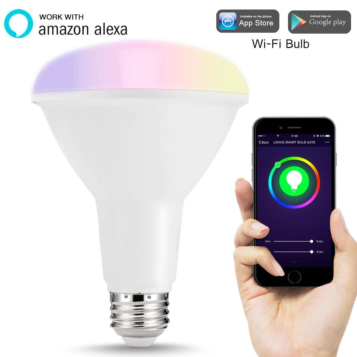 LOHAS BR30 Smart LED Alexa Color Light Bulb for $17.99 @ Amazon