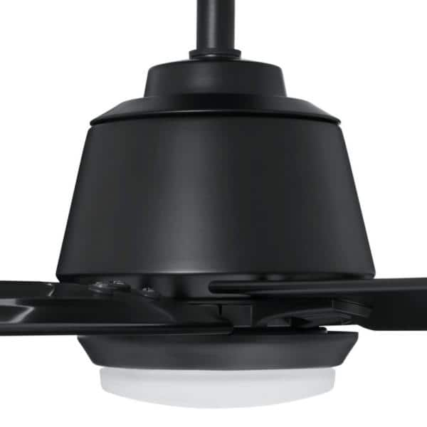 Kensgrove 72 in. LED Matte Black Ceiling Fan with Light and Remote Control works with Google and Alexa $299
