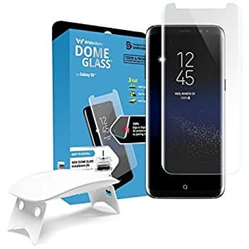 20-30% off Whitestone Dome Glass Screen Protector Tempered Glass Shield Full Coverage Kit for Samsung Galaxy 8/Note 8/9/9+/Pixel 2 XL for Amazon Prime members $31.49