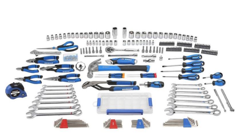 Kobalt 204-Piece Household Tool Set with Hard Case INSTORE price $59.40 YMMV