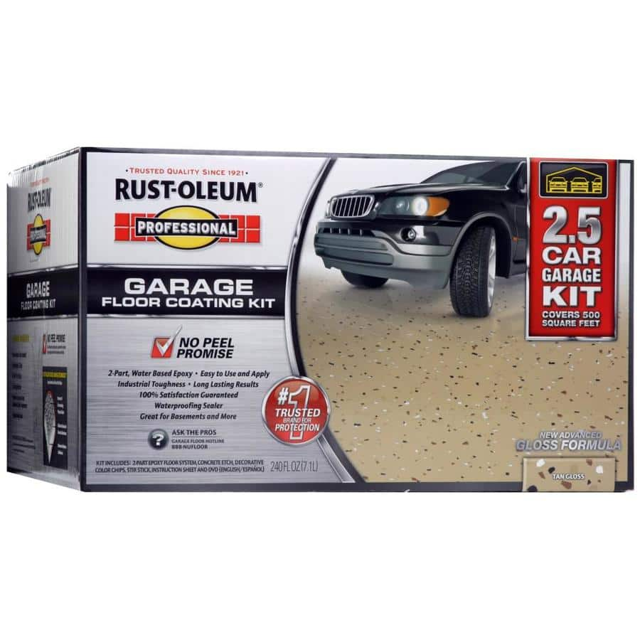 Lowe's: Rust-Oleum garage floor coating kit $27 (YMMV)