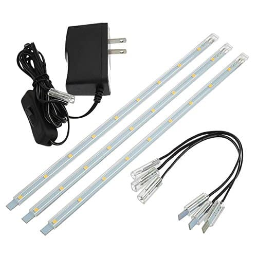 LEDwholesalers Linkable Under Cabinet Light Set of 3x 10-inch LED Strips, 1977WW $11.28 @amazon lightening deal