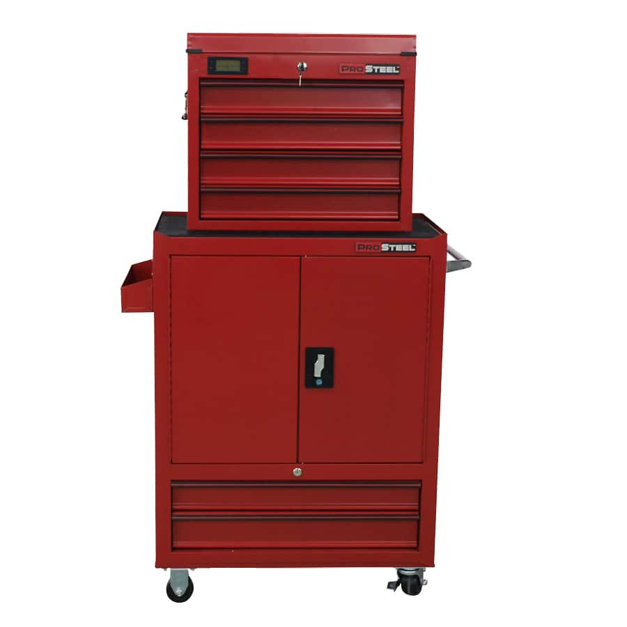 YMMV ProSteel 58.4-in x 34-in 6-Drawer Ball-bearing Steel Tool Cabinet (Red) $111.60 @lowes