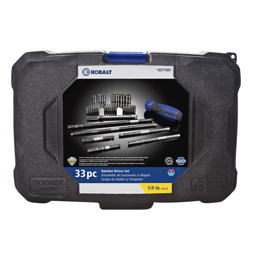 YMMV Kobalt 33-Piece Standard (SAE) and Metric Mechanic's Tool Set with Hard Case ratchet driver $7.50 @lowes