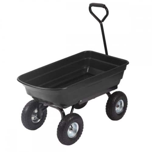 Heavy Duty Poly Garden Utility Yard Dump Cart Wheel Barrow Garden Cart T91 $39.99 AC FS @ebay