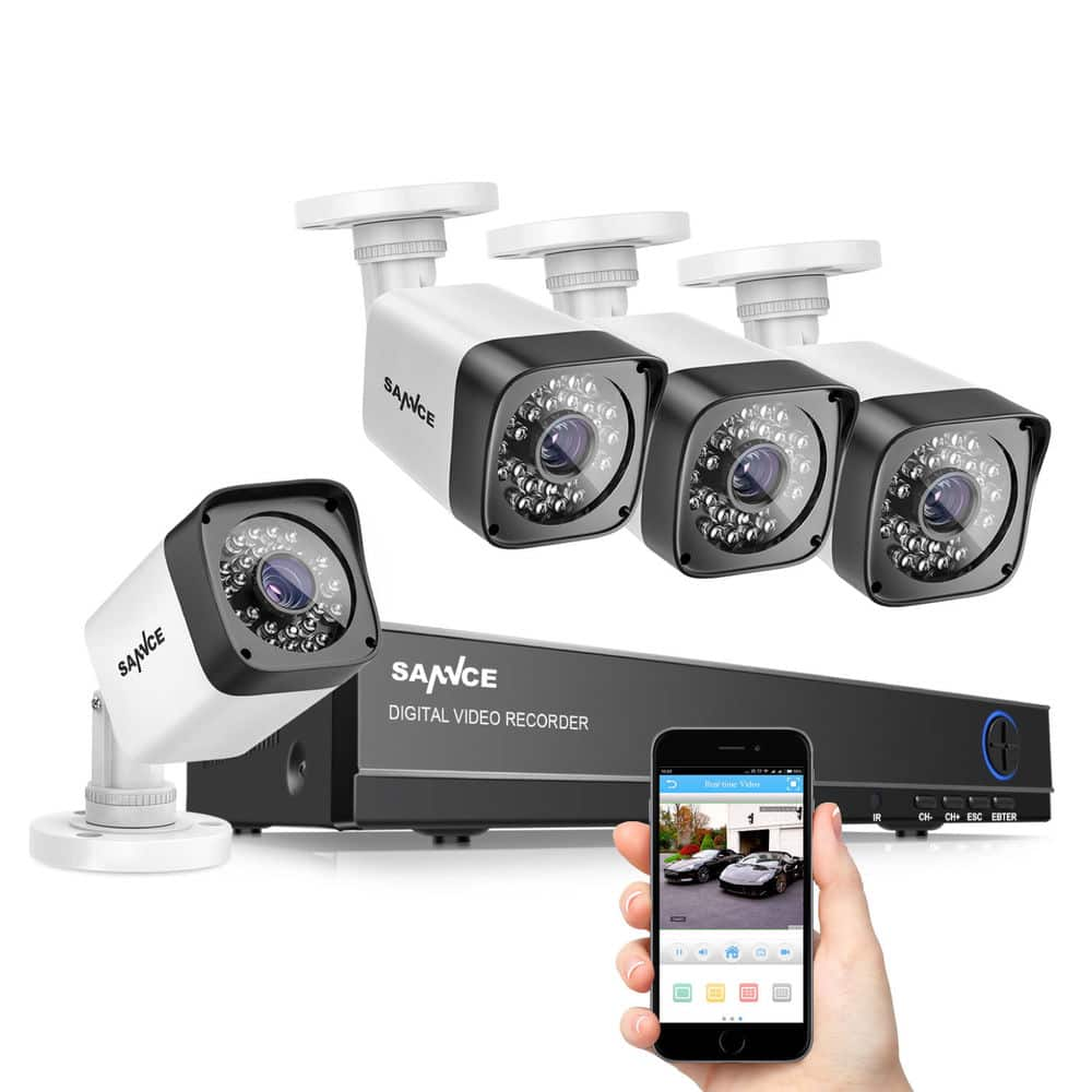 SANNCE 1080N 8CH DVR 4x 720P Outdoor Day Night Cameras CCTV Home Security System 8 $63.96 AC FS @ebay
