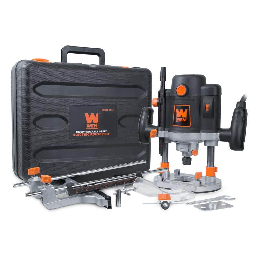WEN 6033 15-Amp Variable Speed Plunge and Fixed Woodworking Router Kit with Carrying Case & Edge Guide $80.50 @homedepot walmart or Amazon