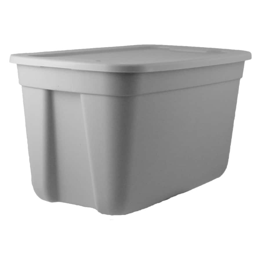 Style Selections 18 Gallon 72 Quart Gray Tote With Standard Snap Lid 4 48 Or Bella Storage Solution Holiday 5 Lowes Slickdeals