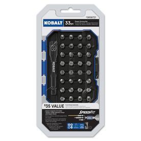 Kobalt 33-Piece 1-in #2 Phillips/#8 Slotted Set High-Speed Steel Hex Shank Screwdriver Bit Set $3.24 @lowes YMMV