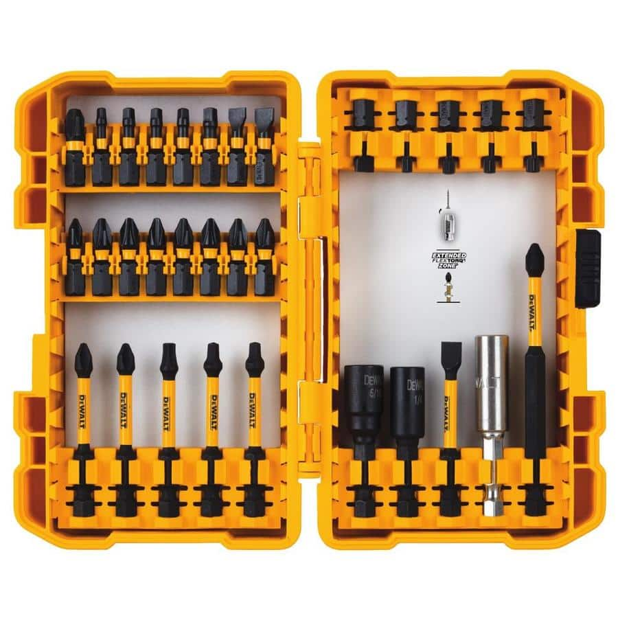 DEWALT FlexTorq 31-Piece Impact Driver Bit Set $8.98 or Tough Grip 46-Piece @lowes it was $10 FP last time
