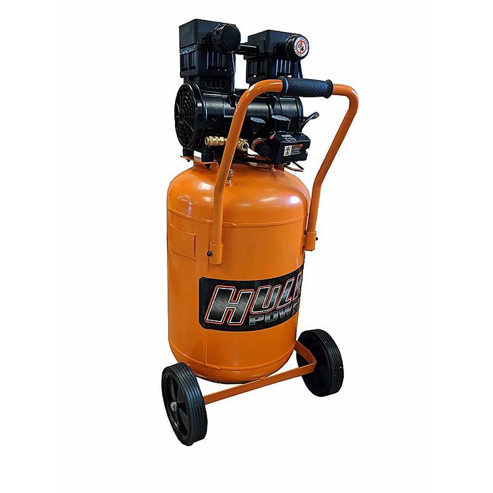 Hulk by EMAX Hulk HP02P020SS 2 HP 20 Gallon Silent Air Portable Compressor $239.94 Free store pick up @sears