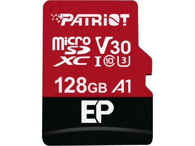 Patriot Memory 128GB EP Series MicroSDXC U3, A1, V30, 4K Memory Card with Adapter, Reads 100 MB/s, Writes 80 MB/s, MLC Nand $14.99 FS @newegg