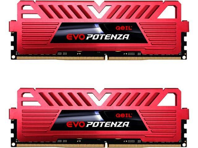 GeIL EVO POTENZA AMD 32GB (2 x 16GB) 288-Pin DDR4 SDRAM DDR4 3000 (PC4 24000) Desktop Memory red or black $92.99 @newegg