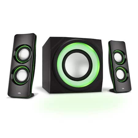 Cyber Acoustics LED Lighted 2.1 Bluetooth Computer Speakers Walmart YMMV $25