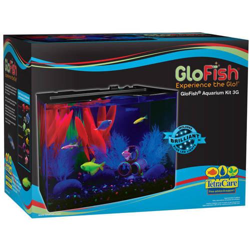GloFish 3-Gallon Aquarium Starter Kit with Power Filter & LED Walmart YMMV $7