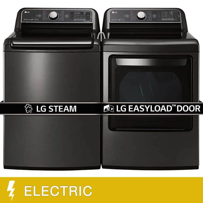 Costco: LG 5.2CuFt Mega Capacity Top Load Washer 7.3CuFt Ultra Large ELECTRIC TurboSteam Dryer $1399