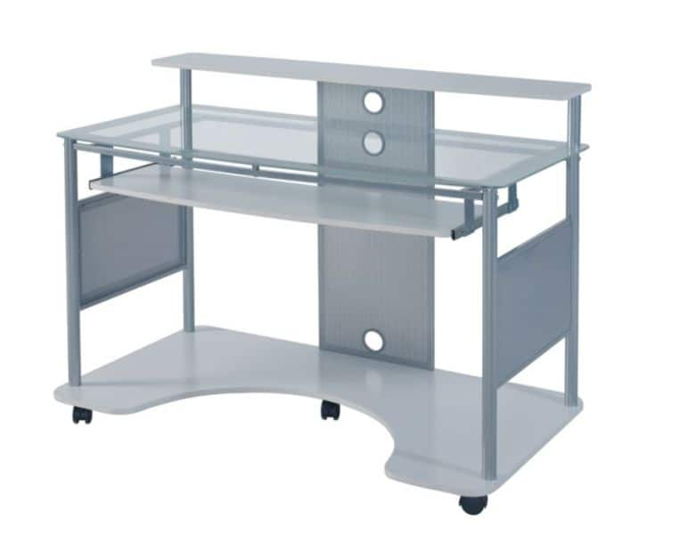 Z-Line Designs Mobile Workstation Desk, White - $107.91 B&M YMMV