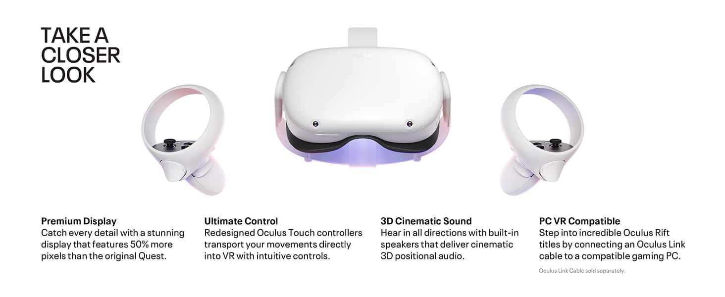 Oculus Quest 2 — Advanced All-In-One Virtual Reality Headset — 64 GB - $249.00