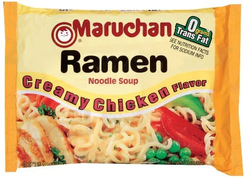 Maruchan Ramen, Creamy Chicken (Pack of 24) $4.49 shipped w/ subscribe and save @amazon; other flavors at similar prices ($3.45-$5.10)