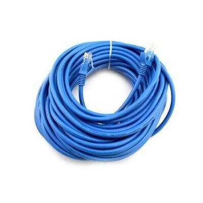 (FBA) Cat5e 100FT Networking RJ45 Ethernet Patch Cable Xbox \ PC \ Modem \ PS4 \ Router - (100 Feet) Blue for $4.95