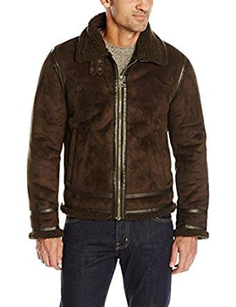 GUESS Men's Jake Faux Shearling Jacket for $26.23