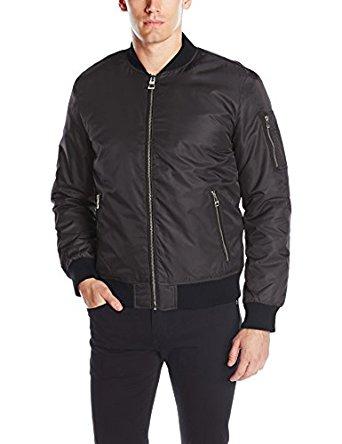 GUESS Men's Harvey Bomber Jacket for $26.05