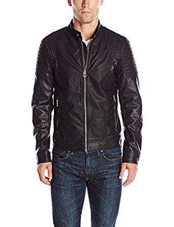 GUESS Men's Abram Moto Jacket for $56.85