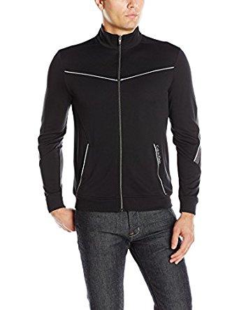Calvin Klein Men's Long Sleeve Mock Neck Elite Track Jacket for $18.59