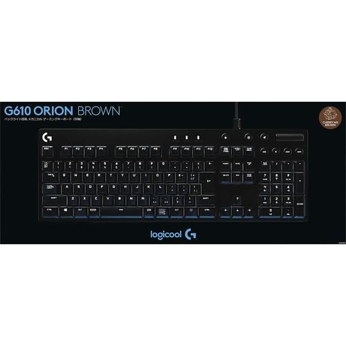 Logitech G610 Orion Brown Backlit Mechanical Gaming Keyboard for $59.99