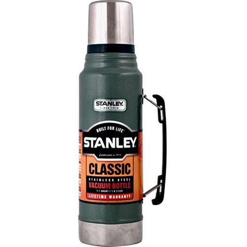 Stanley Classic Vacuum Bottle [Hammertone Green, 1.1QT] for $17.71