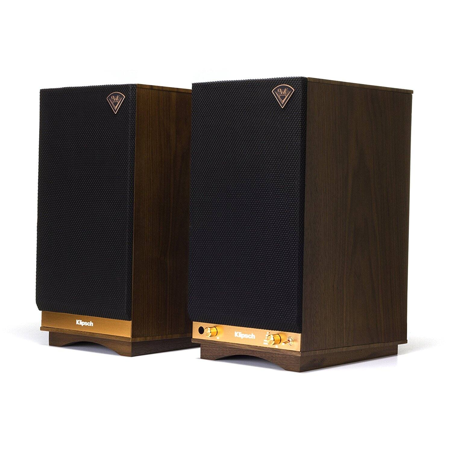 Klipsch The Sixes Powered Monitor – Walnut Veneer (Pair) for $497.99 $497.77