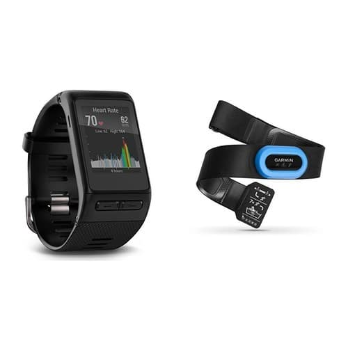 Garmin vívoactive HR GPS Smart Watch, Regular fit - Black and RM-Tri Heart Rate Monitor [Regular, Performance Bundle] for $150
