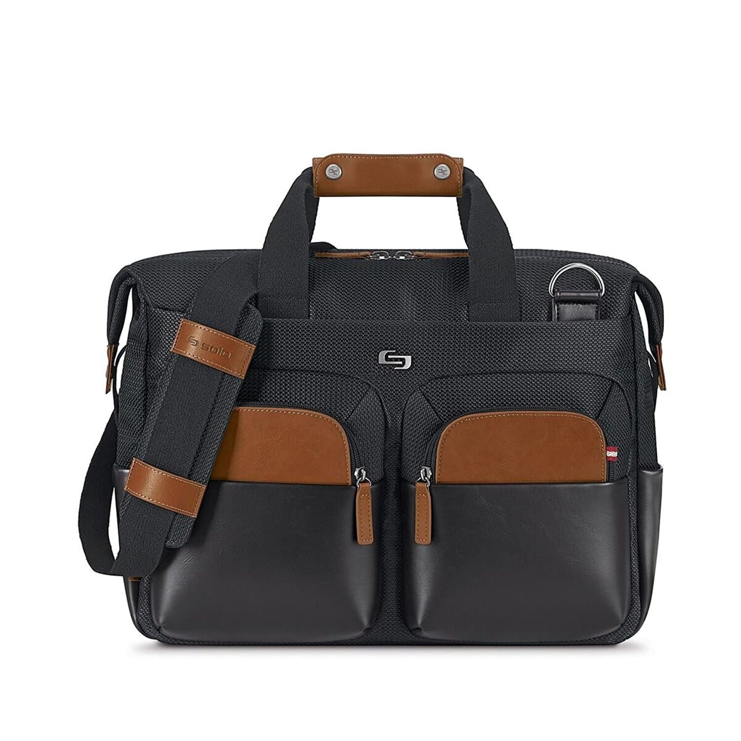 Solo Sag Harbor 15.6 Laptop Briefcase, Black [Black] for $44.45